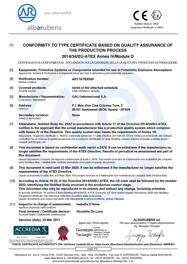 Albarubens Certificate 1