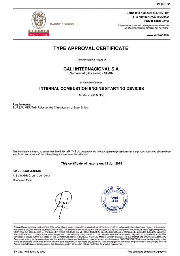 Bureau-Veritas-models certificate