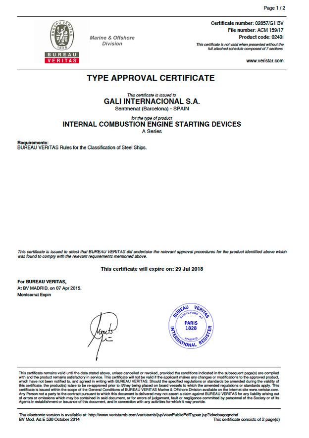 Bureau-Veritas-series certificate