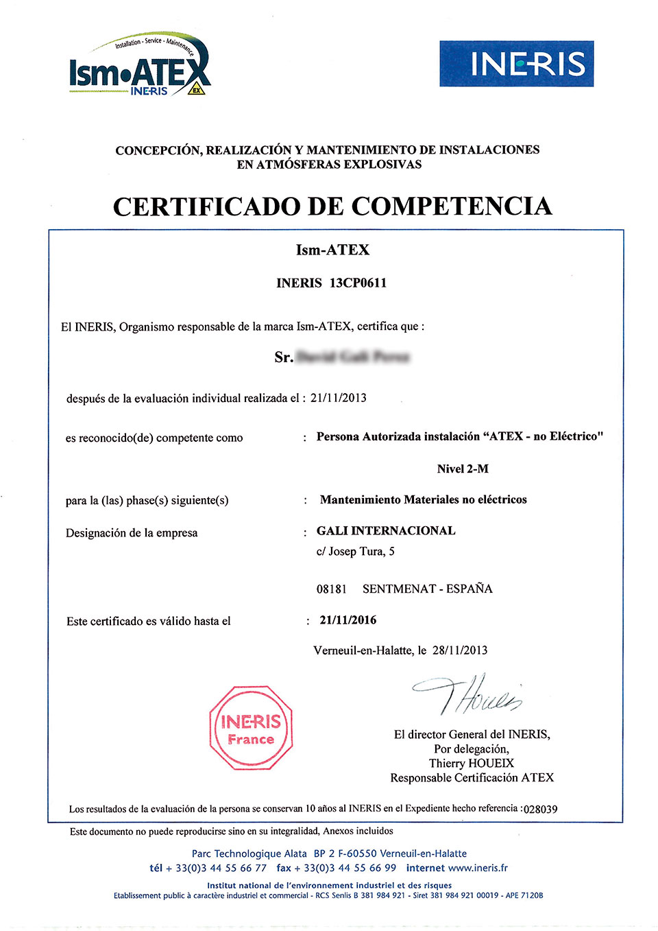 DG-INERIS_Curso-IsmATEX-2M-1 certificate