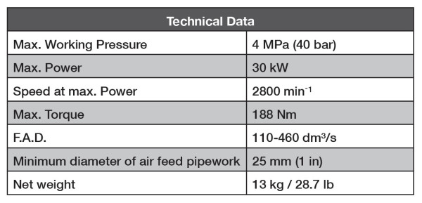 Air starter A27 data sheet