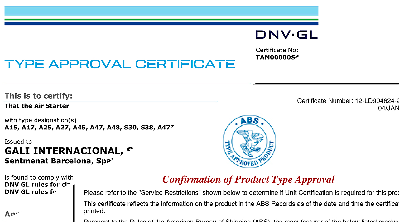 Renewals Of Type Approvals Certificates By The Dnv Gl And Abs Societies