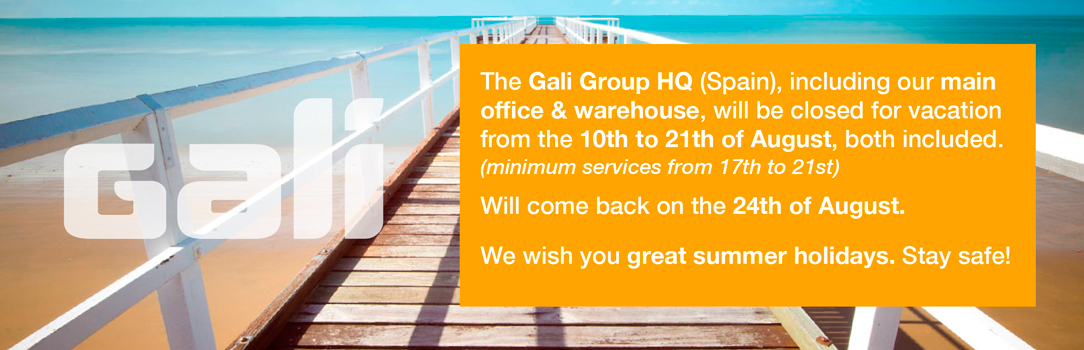 Gali Group HQ will be closed from 10th to 21th of August. Minimum services from 17th to 21st. Will come back on the 24th
